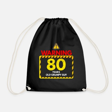 80th Birthday 80th birthday - Drawstring Bag