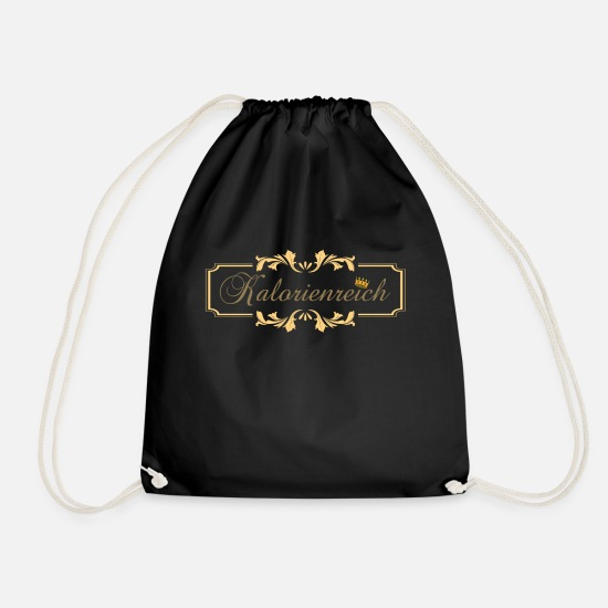 Gift Idea Bags & Backpacks - High calorie, sport, lose weight, calories - Drawstring Bag black