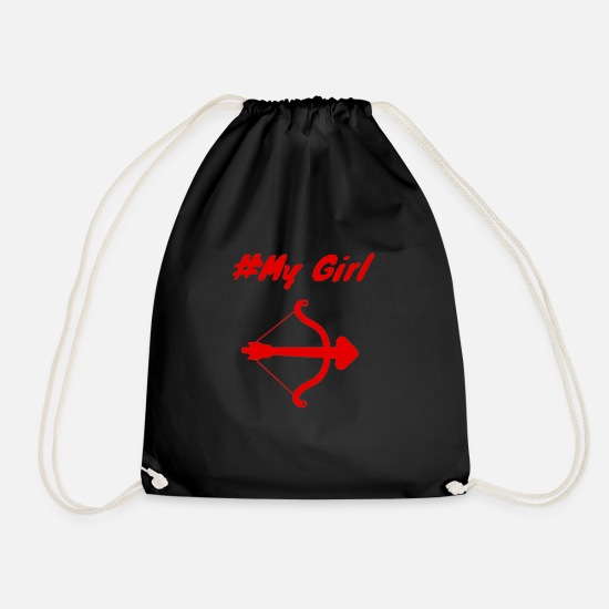 Love Bags & Backpacks - girlfriend - Drawstring Bag black