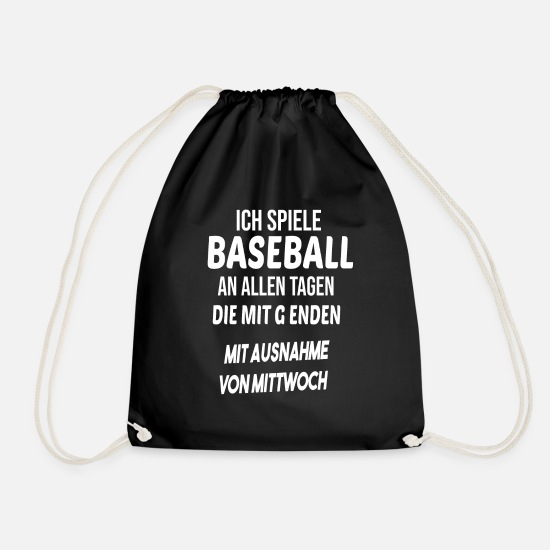 Baseball Glove Bags & Backpacks - Baseball baseball player gift idea - Drawstring Bag black