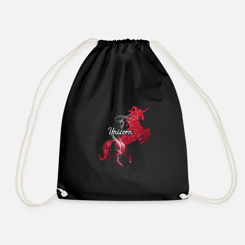 Horse Bags & Backpacks - unicorn - Drawstring Bag black