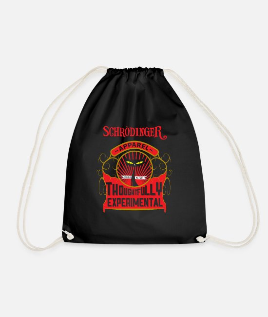 Miscellaneous Bags & Backpacks - Schrödinger Apparel - Drawstring Bag black