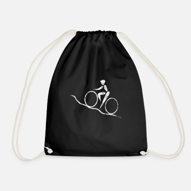Mountain Biker Mountain bikers - Drawstring Bag