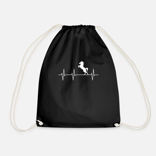 Horse Bags & Backpacks - horse riding - Drawstring Bag black