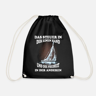 High Seas Sailboat on the high seas - Drawstring Bag
