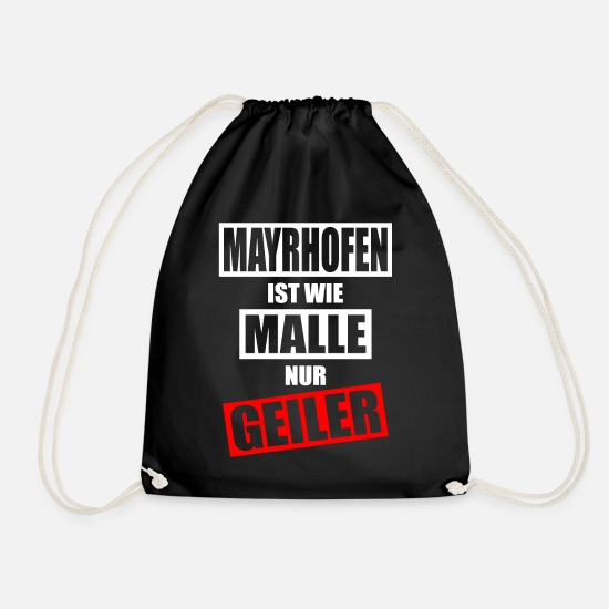 Winter Sports Bags & Backpacks - MAYRHOFEN APRES SKI - Drawstring Bag black