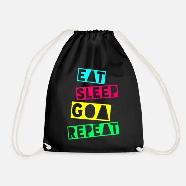 Raver EAT SLEEP GOA REPEAT - Turnbeutel