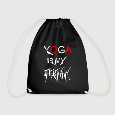 Yoga is my theraphy 2 - Drawstring Bag