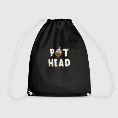 Pot Head Pot Head Coffee Pot Caffeine Vintage Coffee lovers - Drawstring Bag