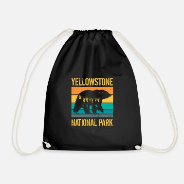 Bjerg Yellowstone National Park vintage bjørn - Gymnastiktaske