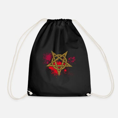 Bloodstain Pentagram on bloodstains - Drawstring Bag