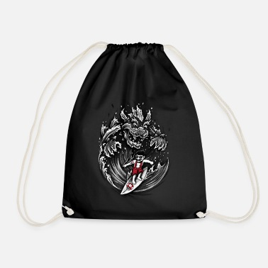 Geek Surfing Mario - Drawstring Bag