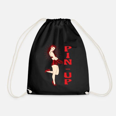 Glamour Pin up. Années 50 pin-up. Rockybilly rétro - Sac à dos cordon