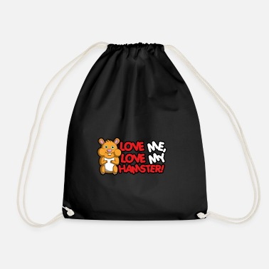 Hamster Saying Hamster love - cute saying - Drawstring Bag