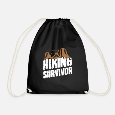 Funshirt Hiking survivor, fun shirt, hiking friends - Drawstring Bag