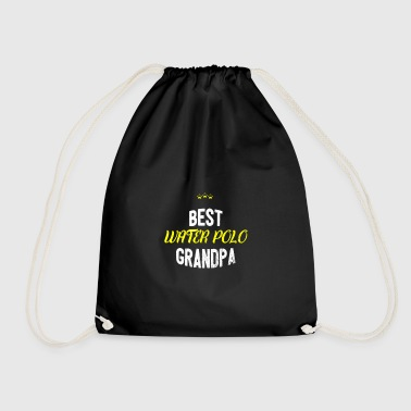 Distressed - BEST WATERPOLO GRANDPA - Drawstring Bag