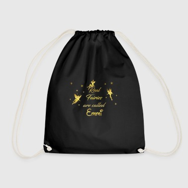 Emmy fairy fairies fairy first name name Emmi - Drawstring Bag