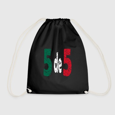 Bandera Cinco de mayo Mexico T-shirt Gift - Drawstring Bag