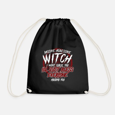 Witch Witch broomstick witch broom magic gift - Drawstring Bag