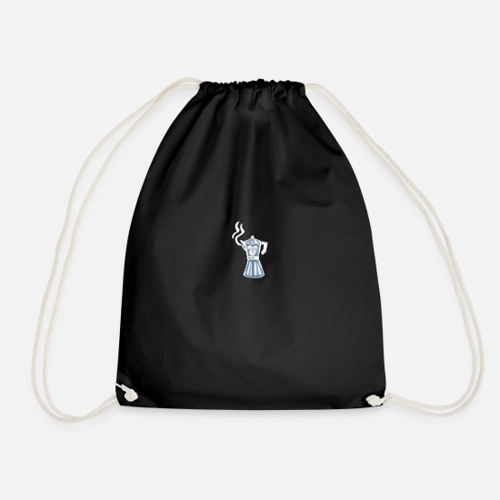 Container Bags & Backpacks - Funny Pitcher - Drawstring Bag black