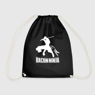 Bacon Ninja T-Shirt - Japansk Ninja Bacon Fighter - Gymnastikpåse
