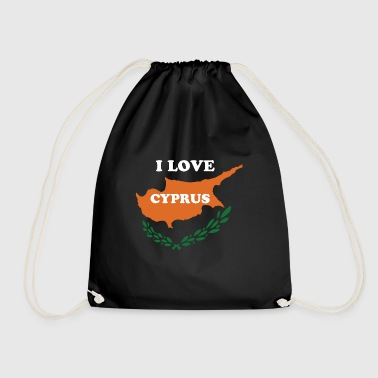 Cyprus shirt with Cyprus colors and island - Drawstring Bag