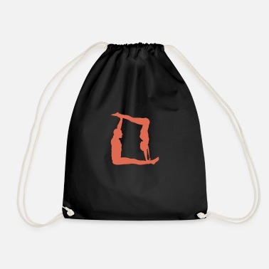 Partner Yoga with partner - Drawstring Bag