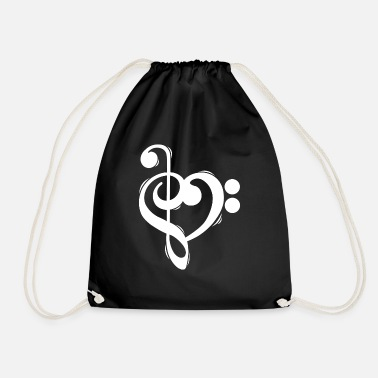 Bass Clef treble clef bass clef shirt - Drawstring Bag