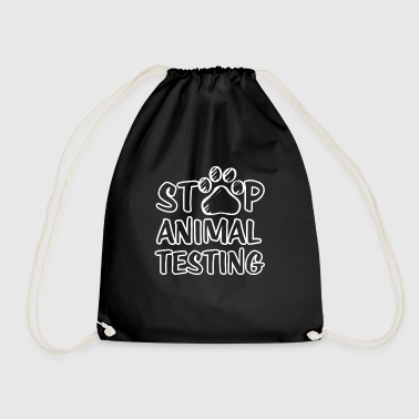 STOP animal testing | Against animal testing shirt - Drawstring Bag