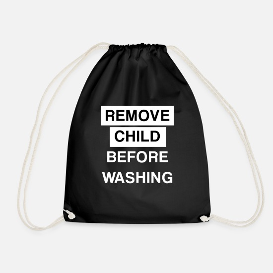 Bachelor Party Bags & Backpacks - remove child before washing - Drawstring Bag black