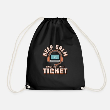 Tech support ticket computer problem Bug Informatik - Drawstring Bag