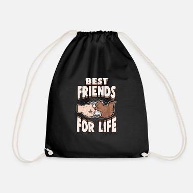 Squirrel Animals Nuts Best Friends for Life - Drawstring Bag