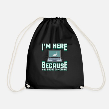 Tech support Computer problem Bug computer scientist - Drawstring Bag