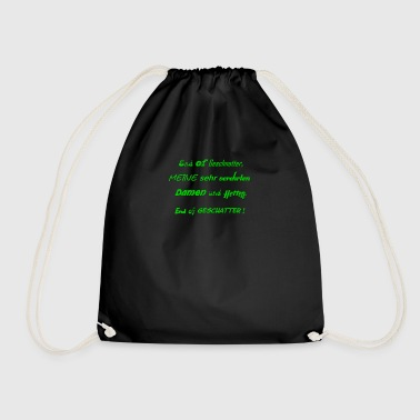 No blabber - End of chatter, people - Drawstring Bag