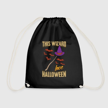 This Wizard Loves Halloween Gift - Drawstring Bag