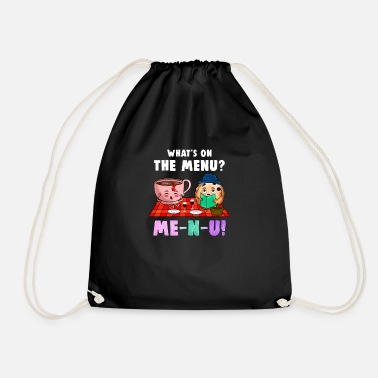 Meal Menu meal meal - Drawstring Bag