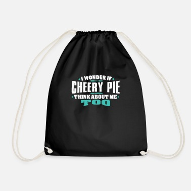 Cherry I Wonder If Cherry Pie Think About Me Too Food - Drawstring Bag