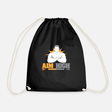 Set high athletic goals - bodybuilders - Drawstring Bag