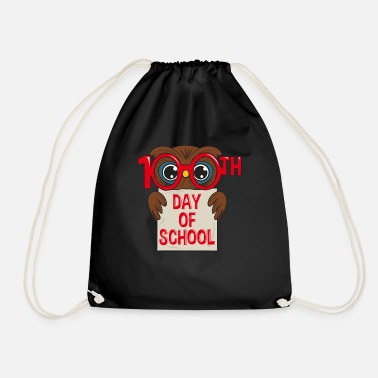 Elementary School Students Owl 100 days school student elementary school gift - Drawstring Bag