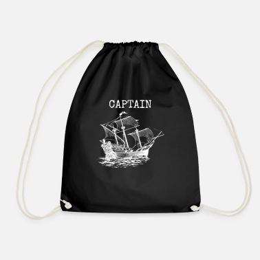 Sailing Boat Captain, Sailor, Sailing Captain Gift - Drawstring Bag