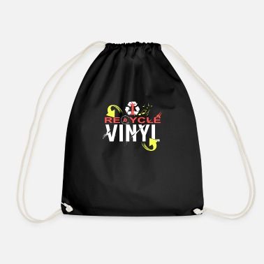 Vinyl I Recycle Vinyl Shirt, Vinyl Records Shirt - Mochila saco