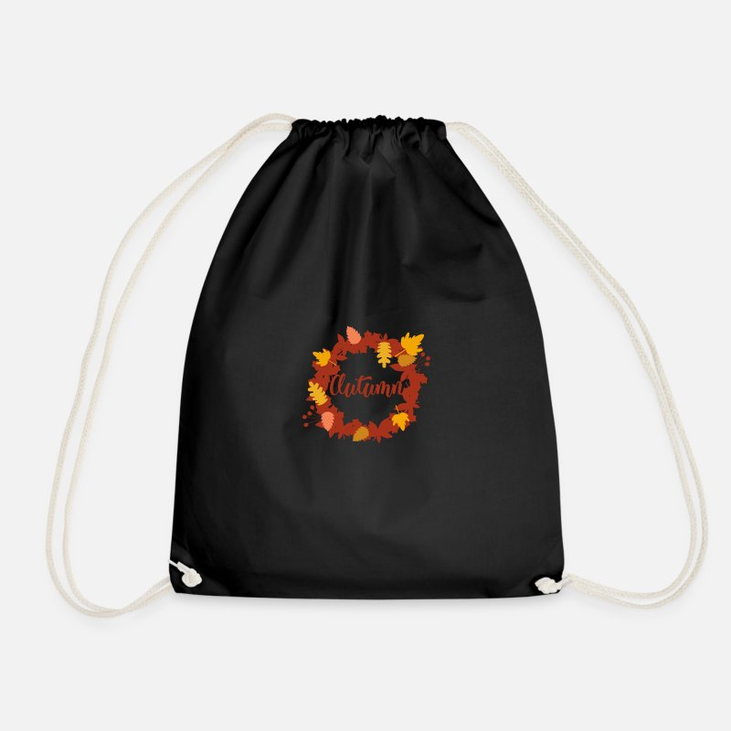Sheet Bags & Backpacks - Autumn - Drawstring Bag black