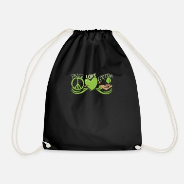 Root Crop Peace Love Gardening Horticulture - Drawstring Bag