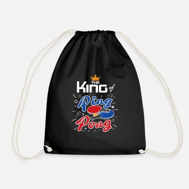 Pingpong King of pingpong gift - Drawstring Bag
