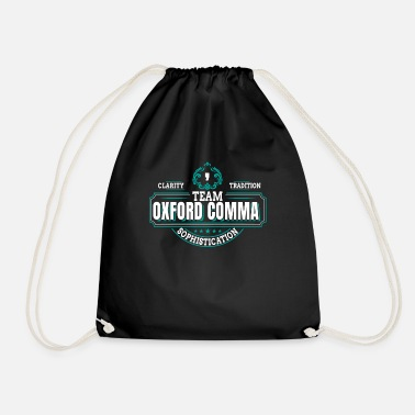 Comma Team Oxford Comma Comma Grammar Sophistication - Drawstring Bag