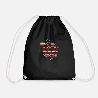 American Flag American Eagle USA Flag - Sacca sportiva ba67b8496823