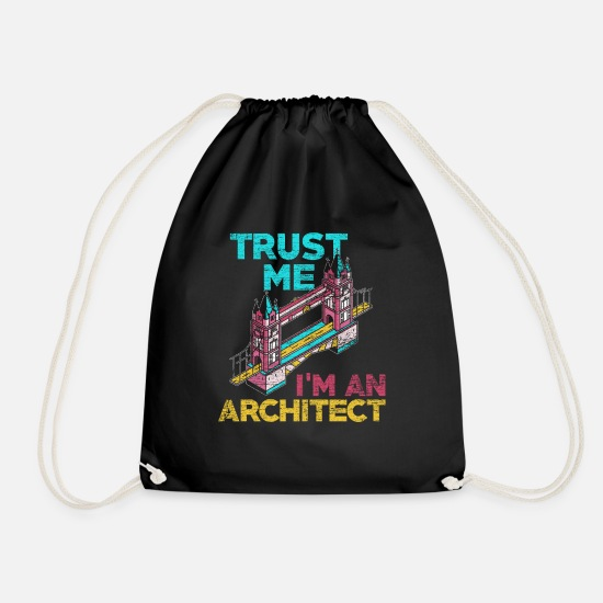 Building Site Bags & Backpacks - architect - Drawstring Bag black