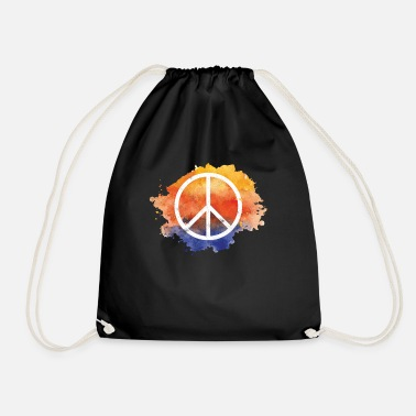 Symbol Symbol peace gift world peace hippie - Drawstring Bag