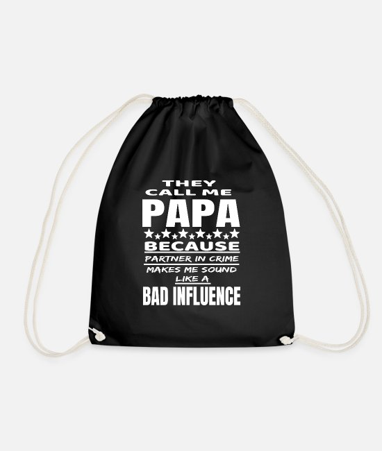 Father's Day Bags & Backpacks - father - Drawstring Bag black