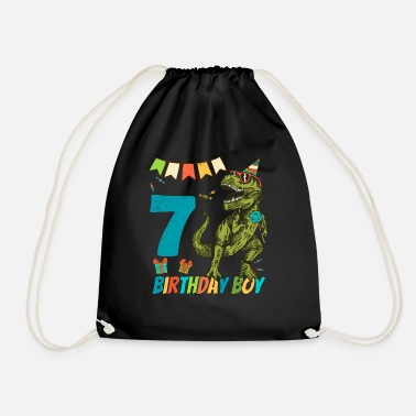 Childrens Birthday Party 7 Year Olds Childrens Birthday Boy Party - Drawstring Bag